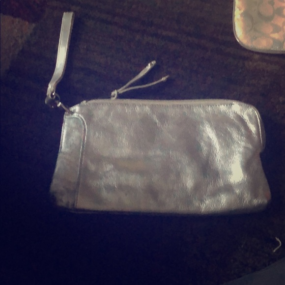 Nine West Handbags - Silver wristlet / wallet